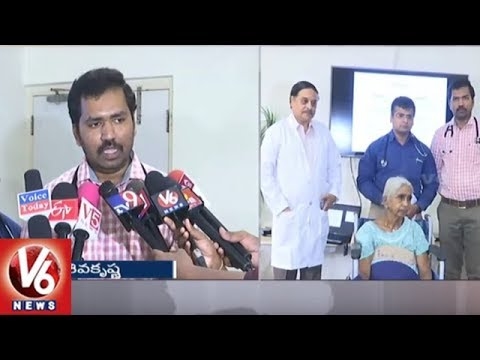 Doctors Performs Rare Heart Surgery For 81 Years Old Woman | Hyderabad | V6 News