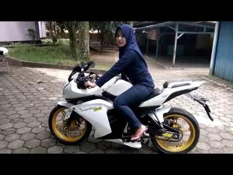 Lady Biker TEST RIDE New Vixion Modifikasi360p