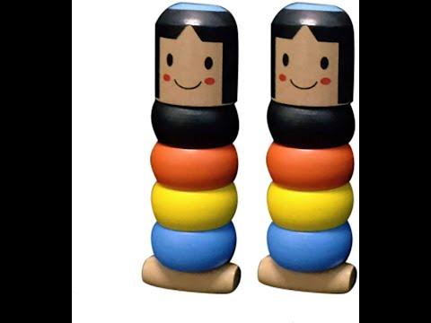 Wooden Stubborn Man Toy Immortal Daruma 2019 Gift Idea Kids Adults Magic Unique Traditional Fun NEW