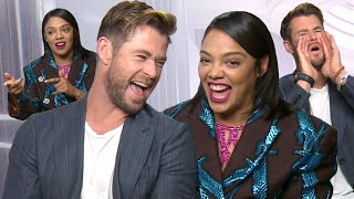 Chris Hemsworth & Tessa Thompson being cute together for 5 minutes straight | PopBuzz Meets