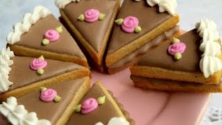How To Make Cute Little Cake Slice Cookies!