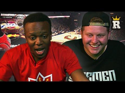 KSI vs. Behzinga: Michael Jordan vs. Lebron James NBA 2K15 | Rule'm Sports