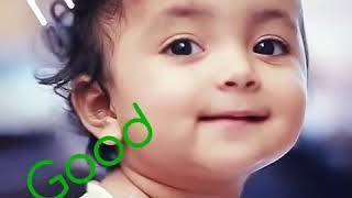 Cute Baby girl's video says hai and Good morning