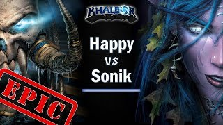 ► WarCraft 3 - Epic Undead vs. Nightelf: Happy vs. Sonik!