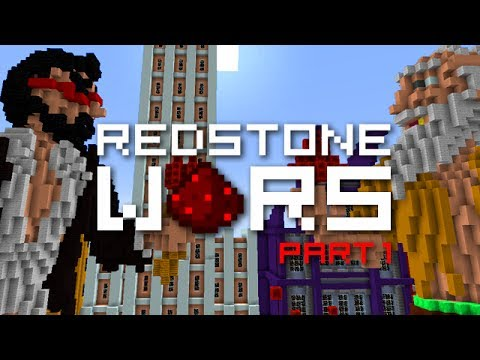 Minecraft: REDSTONE WARS Part 1 Build Phase Mech Suits