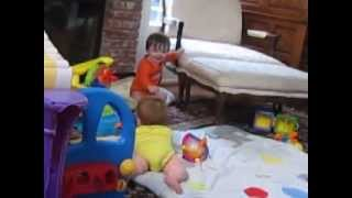 BB Twins Laugh and Play with Each Other They Bump Heads to Hug!