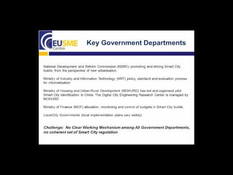 EU SME Centre Webinar - Smart Cities in China: The Transition from Quantity to Quality