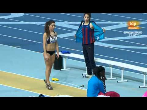 Salto de longitud femenino Campeonato de España 2013 en pista cubierta
