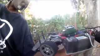 124 MPH CRASH RC SERPENT 966E SPEED RUN   GIZMOBUILT AND AFTERMATH