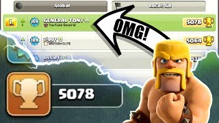 OMG! WE ARE NUMBER #1 ON THE LEADER BOARD! - INSANE HIGH LEVEL GAME PLAY IN CLASH OF CLANS!