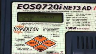 How to set memory position for a LiPo pack using the Hyperion EOS720i NET3 AC/DC Charger