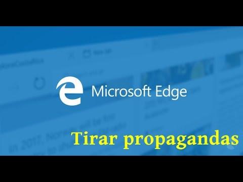 Como tirar propagandas do Microsoft Edge (2015)