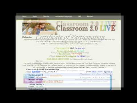 Classroom 2.0 Live  binder for March 2014 webinar resources