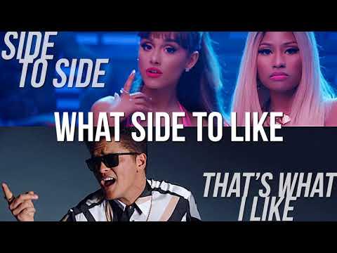 Side to Side vs. That's What I Like (MASHUP) Bruno Mars & Ariana Grande