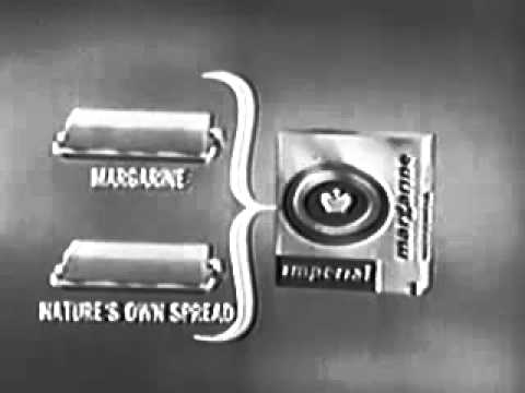Vintage 1958 imperial margarine commercial uses a euphemism phrase for butter youtube - Unknown uses of butter ...