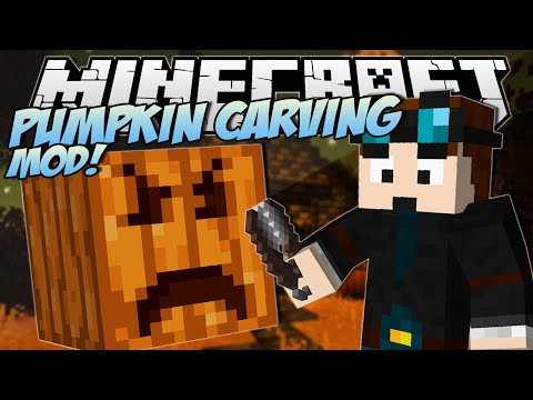 Minecraft PUMPKIN CARVING MOD Create ANY Pumpkin Design Mod Showcase