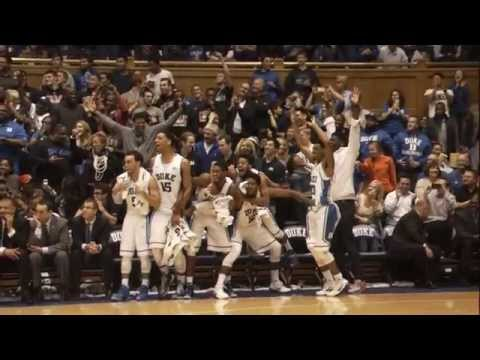 Duke Bench Loses Mind After Plumlee 3 Pointer
