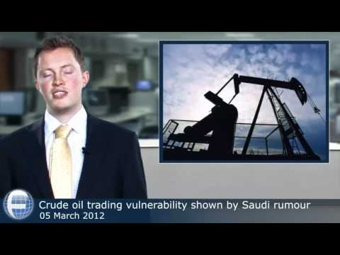 Crude oil trading vulnerability shown by Saudi rumour