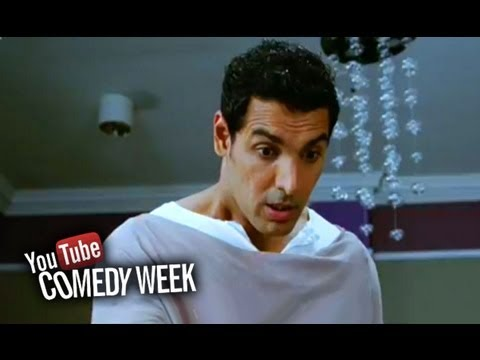 John Abraham bit by a snake - Comedy Sequence - Housefull 2