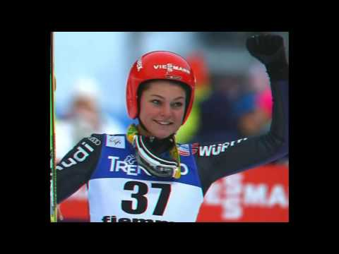Carina Vogt Germany wins first womens ski jumping gold - 12 February 2014
