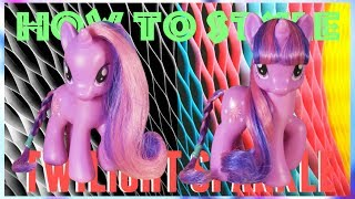 MLP- How To Style TWILIGHT SPARKLE (NO CUTTING!)