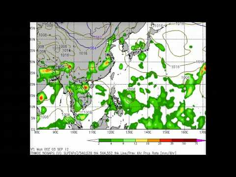 Strong Storms over Japan China & Philippines, 03 Sep 2012 West Pac Update