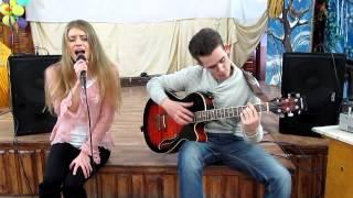 Лоя - Розы тёмно-алые acoustic cover by Lilia Shevchenko and Sergei Lashkov