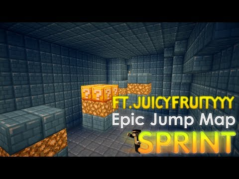 Minecraft: Epic Jump Map SPRINT! ft. JuicyFruityyy