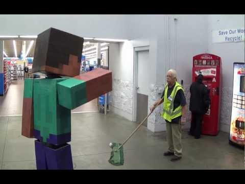 Real Life Minecraft Steve Visits Walmart | How To Save ...