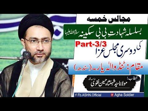Majalis e Khamsa Basilsila Shahadat e Bibi Sakina s a 2nd (Majlis part 3)