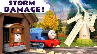 Thomas and Friends Toy Train Toby's Windmill Storm Damage Story TT4U