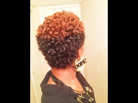 AWESOME Perm Rod Set on Natural Hair (No Heat)