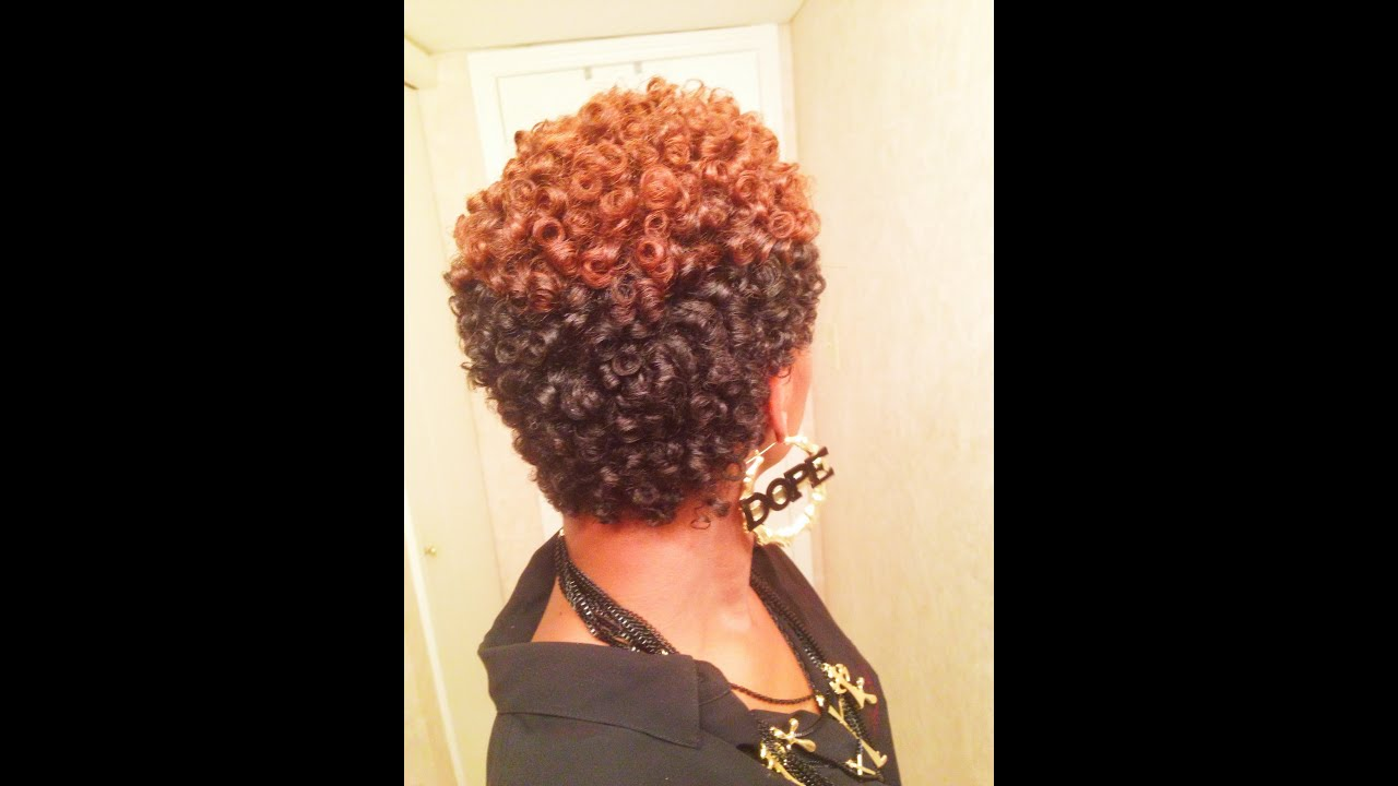 AWESOME Perm Rod Set on Natural Hair (No Heat) - YouTube