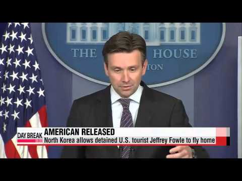 North Korea releases detained U.S. tourist Jeffrey Fowle   북한 억류 미국인 파울 반년만에 석방…