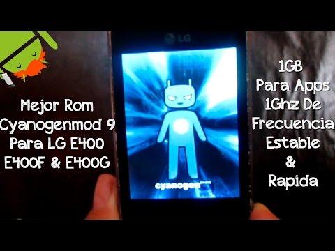 Mejor Rom Cyanogenmod 9 Para LG E400 E400G E400F   Instalacion & Revisado   Estable & Rapida