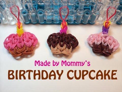 Rainbow Loom Happy Birthday Cupcake Charm