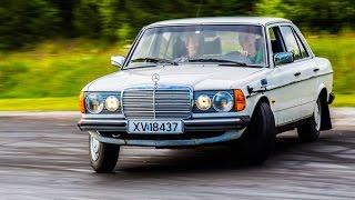 Mercedes-Benz W123 250 GoPro Drifting
