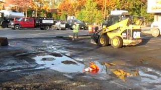 Milling and Sweeping of King Kullen in Staten Island, NY