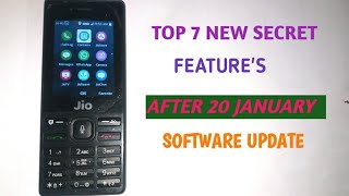 JIOPHONE:LATEST SOFTWARE UPDATE|TOP 7 NEW FEATURE|