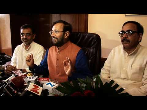 Shri Prakash Javadekar assumes charge of the Ministry of Human Resource Development