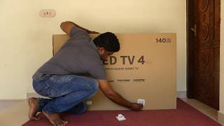 Xiaomi Mi TV 4 (55 inch 4K HDR TV) Unboxing Worlds Thinnest LED TV