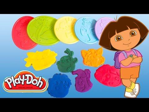 Play Doh Dora The Explorer Playset Playdough Hasbro Kit Play-doh Dora La Exploradora Toys video