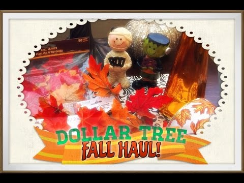 Dollar Tree Haul! Fall/Autumn Decor 2014