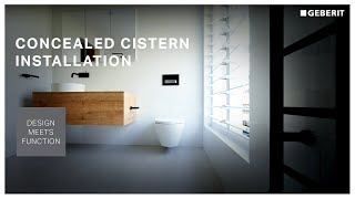 Bathroom renovation - See how quick and easy to install a Geberit concealed cistern