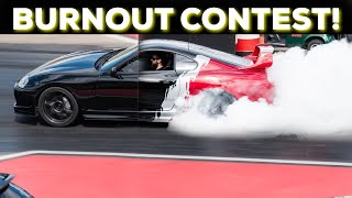 I ENTERED MY MKIV TOYOTA SUPRA IN A BURNOUT CONTEST!