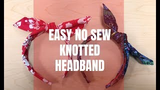 EASY NO SEW KNOTTED HEADBAND
