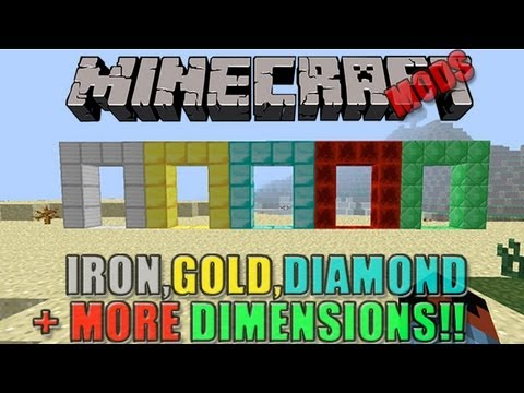 Minecraft Mods - Block Dimension (5+ Dimensions!)