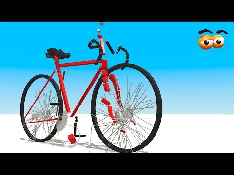 CUBE BUILDER for Kids (HD) - Build a Racing Bicycle for Children - AApV