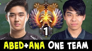 TOP-1 RANK + TI8 WINNER in one team — when ABED meets ANA
