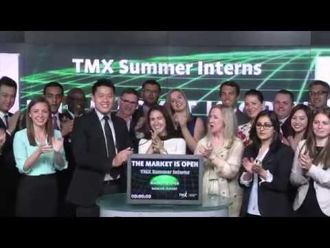 TMX Summer Interns opens Toronto Stock Exchange, July 7, 2015